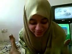 Malay Teenager Sporting it is Islamic