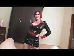 Boobalicious Slut In Latex Dress Sucki...