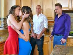 Melissa Moore and Riley Reid swaps hubbies in a hot foursome
