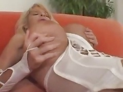 F60 Huge Boobs STRAPON Bang