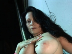 Big-breasted chick pleases her dripping wet cum bucket