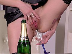Drinking her natural Champagne and fucking