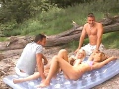 Outdoor anal groupsex