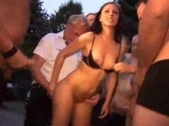 Public Gangbang With Dilettante Tee...