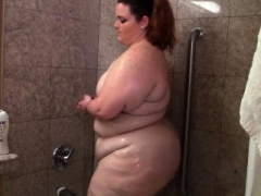 Redhead gfs shower self-satisfaction