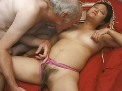 Old asiatic chick banged hard