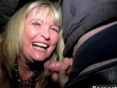 Blond woman with huge