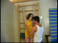Adorable Sweet Innocent Spanish Legal teen Bathroom Sex With More experienced Guy