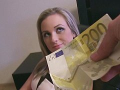 Culo, Chica, Rubia, Europeo, Dinero, Pov, Coño, Afeitado