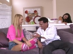 Babysitter Carmen Callaway seduced by the horny couple