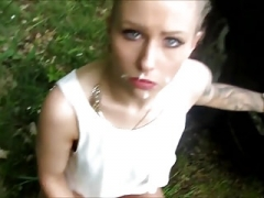 Blonde hoe picked up from the street and additionally rectal fucked