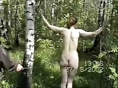 Booty Spanking In Woods