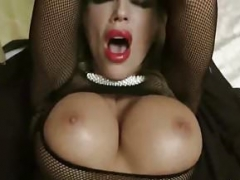 German Mom i`d like to fuck in Hot Fishnet Lingerie Seduce to Anal Fuck