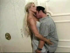 Blond lady gives bj and besides gets down and dirty