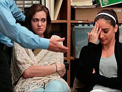 За кулисами, Две девушки, Группа, В офисе, Полиция, Наказание, Украденные видео, Втроем