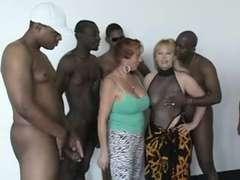 Enthousiasteling, Mooie dikke vrouwen, Groepseks, Interraciaal