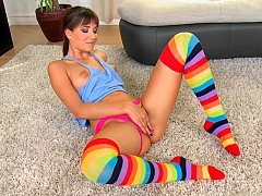 Hungarian girl in a colorful outfit