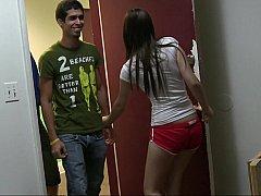 18 años, Morena, Universidad, Sexo duro, Pequeña, Realidad, Flaco, Adolescente