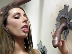 Ass Paige Turnah Gives blowjob Sizeable Black Love tool - Gloryhole