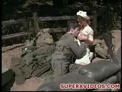 Excited Nurse Fuck Outdoor With Militar