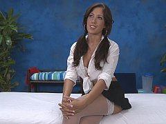 Capri doing massage in lingerie