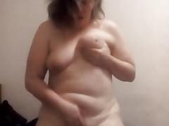 Sexy white round butt
