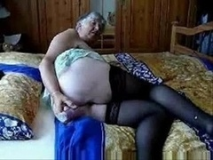 Slut Granny Having Much Fun !