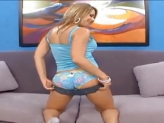 bubble bum blond eager mom fucked and furthermore cum on bum