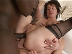 Double anal for French Soccer mom Zaza