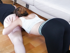 Kat Monroe works out her tongue at the Rim Gym
