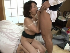 Japanese grown-up milf pov fucked hard