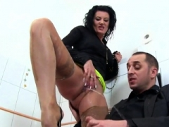 Shocked beauty in underwear is geeting pissed on and also pounded9