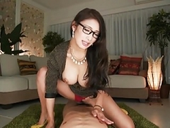 What's her name? Japanese secretary rides & takes creampie