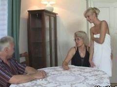 She gets lured into 3-way by his parents