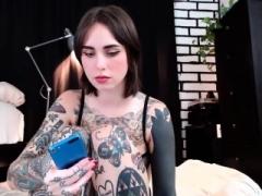 Livecam Tattoo angel wank