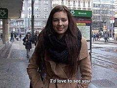 18 ans, Tchèque, Européenne, Argent, Pov, Chatte, Réalité, Adolescente