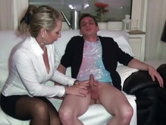 German Mom i`d like to fuck teach Young Couple to Fuck Good