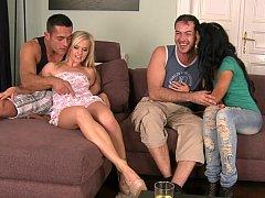Group sex after having a few shots
