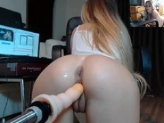 Blonde College slut Playing With Her Fucking Machine....