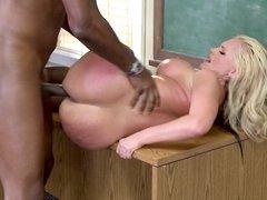 Teacher Alena Croft gangbanged by her black students
