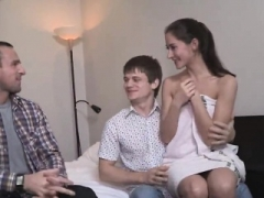 Bankrupt man lets unusual buddy to shag his girlfriend for bucks56j