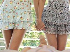 18 años, Morena, Linda, Inocente, Pequeña, Flaco, Adolescente, Trio