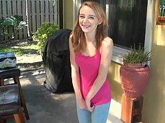 18 ans, Amateur, Petite amie, Chatte, Réalité, Rousse roux, Maigrichonne, Adolescente
