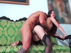Tiffany Doll sucking erect dong and getting nailed very hard