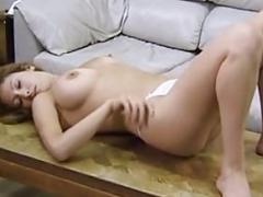 Big-breasted amateur Liliana masturbates her pussy