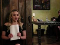 Mia bangs lesbo in a job interview