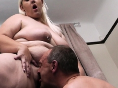 Blonde Adult bbw rides cheating cock