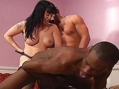 Bisexuelle, Interracial, Strapon