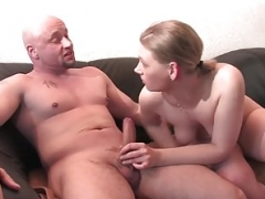 Blonde German hottie gets nailed