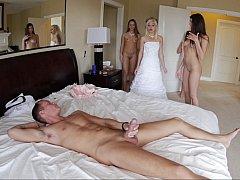 Beauté, Chambre à dormir, Mariée, Partouze, Groupe, Fête, Mariage